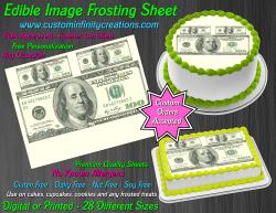 100 Dollar Bill Money Edible Image Frosting Sheet #4 Cake Cupcake Cookie Topper