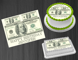 100 Dollar Bill Money Edible Image Frosting Sheet #4 Cake Cupcake Cookie Topper
