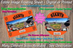 San Francisco Giants Baseball Edible Image Frosting Sheet #6 Cake Cupcake Topper