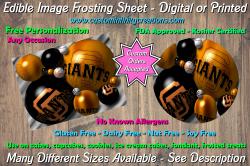 San Francisco Giants Baseball Edible Image Frosting Sheet #8 Cake Cupcake Topper
