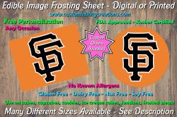 San Francisco Giants Edible Image Frosting Sheet #11 Cake Cupcake Topper