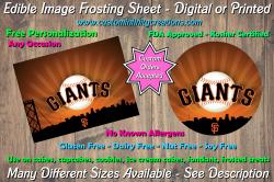 San Francisco Giants Edible Image Frosting Sheet #16 Cake Cupcake Topper