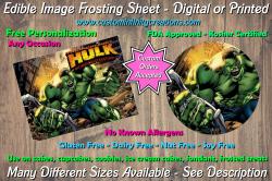 Hulk Marvel Superhero Edible Image Frosting Sheet #10 Cake Cupcake Topper
