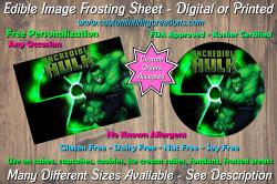 Hulk Marvel Superhero Edible Image Frosting Sheet #12 Cake Cupcake Topper