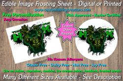 Hulk Marvel Superhero Edible Image Frosting Sheet #13 Cake Cupcake Topper