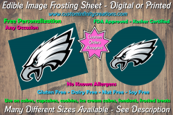 Philadelphia Eagles Football Edible Image Frosting Sheet #13 Cake Cupcake Topper
