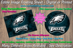 Philadelphia Eagles Football Edible Image Frosting Sheet #19 Cake Cupcake Topper