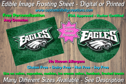 Philadelphia Eagles Football Edible Image Frosting Sheet #27 Cake Cupcake Topper