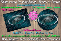 Philadelphia Eagles Football Edible Image Frosting Sheet #33 Cake Cupcake Topper