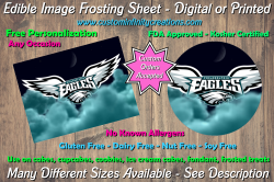 Philadelphia Eagles Football Edible Image Frosting Sheet #34 Cake Cupcake Topper