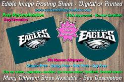 Philadelphia Eagles Football Edible Image Frosting Sheet #37 Cake Cupcake Topper