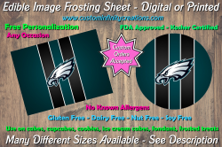 Philadelphia Eagles Football Edible Image Frosting Sheet #57 Cake Cupcake Topper