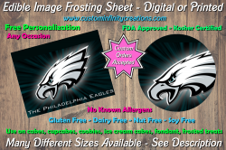 Philadelphia Eagles Football Edible Image Frosting Sheet #58 Cake Cupcake Topper