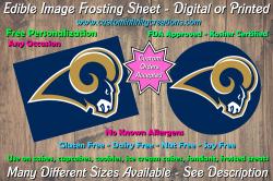 St Louis Rams Football Edible Image Frosting Sheet #2 Cake Cupcake Topper