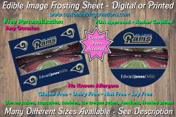 St Louis Rams Football Edible Image Frosting Sheet #5 Cake Cupcake Topper