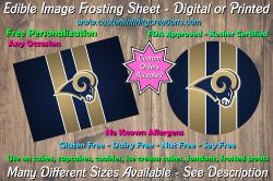 St Louis Rams Football Edible Image Frosting Sheet #13 Cake Cupcake Topper
