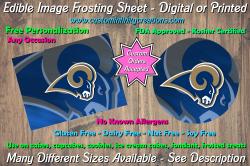 St Louis Rams Football Edible Image Frosting Sheet #14 Cake Cupcake Topper