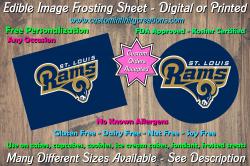 St Louis Rams Football Edible Image Frosting Sheet #16 Cake Cupcake Topper