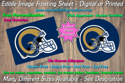 St Louis Rams Football Edible Image Frosting Sheet #21 Cake Cupcake Topper