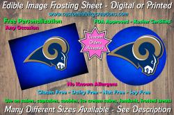 St Louis Rams Football Edible Image Frosting Sheet #28 Cake Cupcake Topper