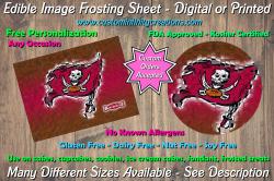 Tampa Bay Buccaneers Football Edible Image Frosting Sheet #3 Cake Cupcake Topper