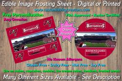 Tampa Bay Buccaneers Football Edible Image Frosting Sheet #4 Cake Cupcake Topper