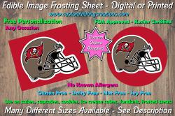 Tampa Bay Buccaneers Football Edible Image Frosting Sheet #7 Cake Cupcake Topper