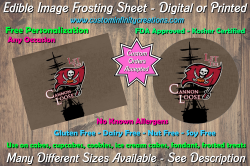 Tampa Bay Buccaneers Edible Image Frosting Sheet #31 Cake Cupcake Topper