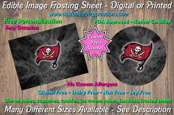 Tampa Bay Buccaneers Edible Image Frosting Sheet #37 Cake Cupcake Topper