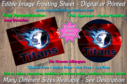 Tennessee Titans Football Edible Image Frosting Sheet #1 Cake Cupcake Topper