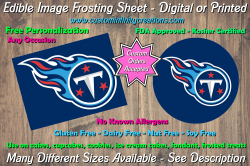 Tennessee Titans Football Edible Image Frosting Sheet #4 Cake Cupcake Topper