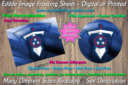 Tennessee Titans Football Edible Image Frosting Sheet #6 Cake Cupcake Topper