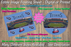 Tennessee Titans Football Edible Image Frosting Sheet #12 Cake Cupcake Topper