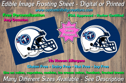 Tennessee Titans Football Edible Image Frosting Sheet #22 Cake Cupcake Topper
