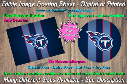 Tennessee Titans Football Edible Image Frosting Sheet #24 Cake Cupcake Topper