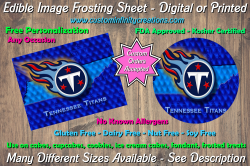 Tennessee Titans Football Edible Image Frosting Sheet #40 Cake Cupcake Topper