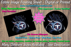 Tennessee Titans Football Edible Image Frosting Sheet #41 Cake Cupcake Topper