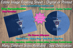 Tennessee Titans Football Edible Image Frosting Sheet #44 Cake Cupcake Topper
