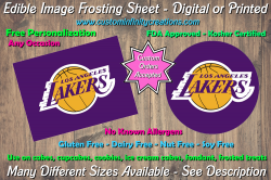 Los Angeles Lakers Edible Image Frosting Sheet #12 Cake Cupcake Topper