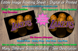 Los Angeles Lakers Edible Image Frosting Sheet #26 Cake Cupcake Topper