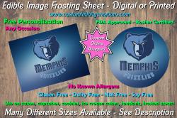 Memphis Grizzlies Basketball Edible Image Frosting Sheet #7 Cake Cupcake Topper