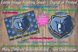 Memphis Grizzlies Basketball Edible Image Frosting Sheet #12 Cake Cupcake Topper