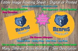 Memphis Grizzlies Basketball Edible Image Frosting Sheet #15 Cake Cupcake Topper