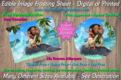 Moana Edible Image Frosting Sheet #6 Cake Cupcake Topper