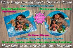 Moana Edible Image Frosting Sheet #9 Cake Cupcake Topper