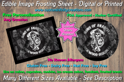 Sons of Anarchy SOA Edible Image Frosting Sheet #23 Cake Cupcake Topper