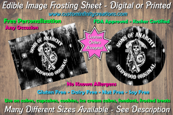 Sons of Anarchy SOA Edible Image Frosting Sheet #134 Cake Cupcake Topper