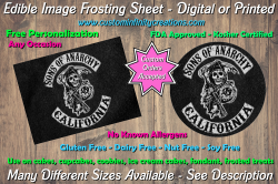 Sons of Anarchy SOA Edible Image Frosting Sheet #143 Cake Cupcake Topper