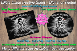 Sons of Anarchy SOA Edible Image Frosting Sheet #170 Cake Cupcake Topper