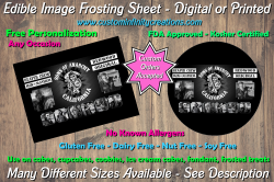 Sons of Anarchy SOA Edible Image Frosting Sheet #183 Cake Cupcake Topper
